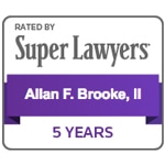 SuperLawyers 5 Years - Allan F Brooke