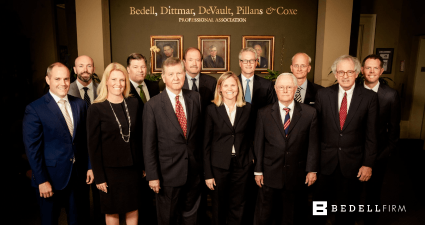 Photo of attorneys and paralegals at Bedell Firm