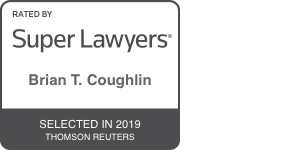Super Lawyers badge for Brian T. Coughlin selected in 2019 by Thomson Reuters