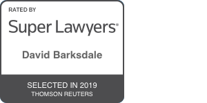 super lawyers badge for david barksdale selected in 2019