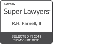 super lawyers badge for r.h. farnell, ii 2019