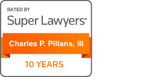 super lawyers badge for charles p. pillans, iii 10 years