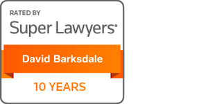 super lawyers badge for david barksdale 10 years