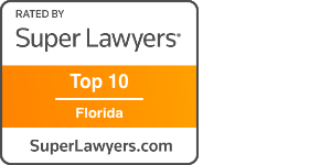 super lawyers badge for john a. devault, iii top 10 florida