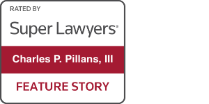 super lawyers badge for charles p. pillans, iii feature story