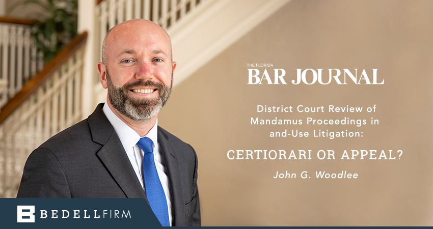 John Woodlee Featured in the Florida Bar Journal
