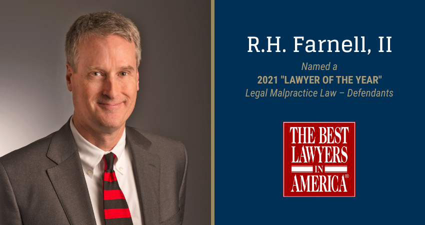"R.H. Farnell is named 2021 ""Lawyer of the Year"" at the Bedell Firm"