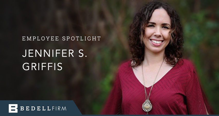 Jennifer Griffis is a secretary at the Bedell Firm